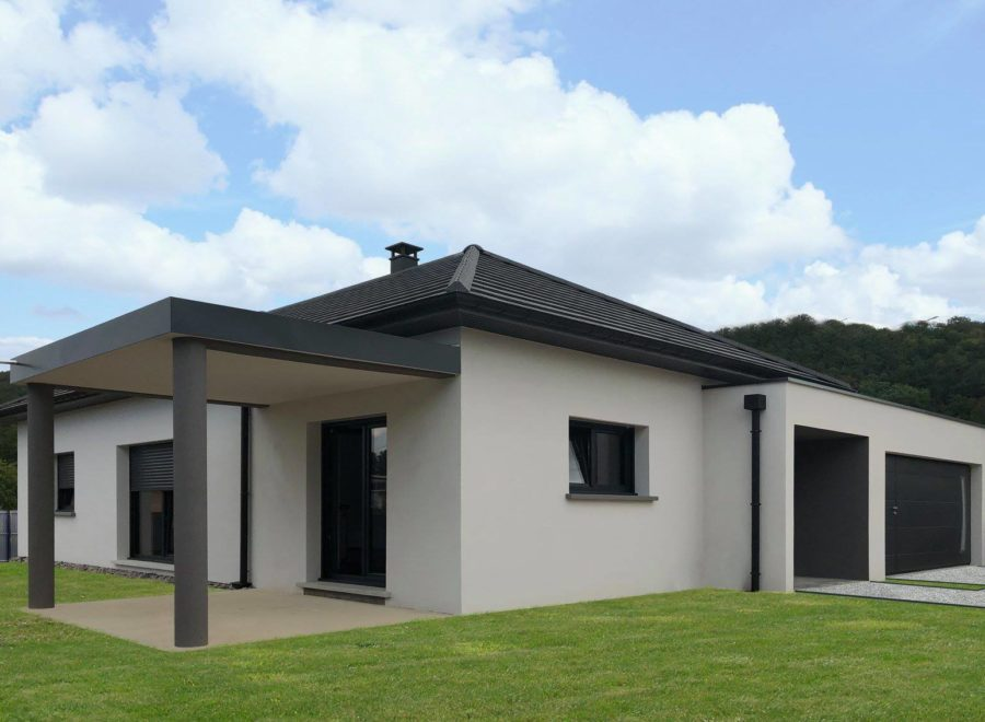 Maison contemporaine 4 pans