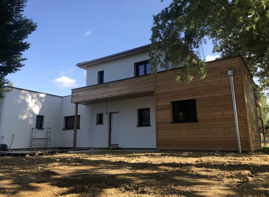 Maison contemporaine avec bardage bois