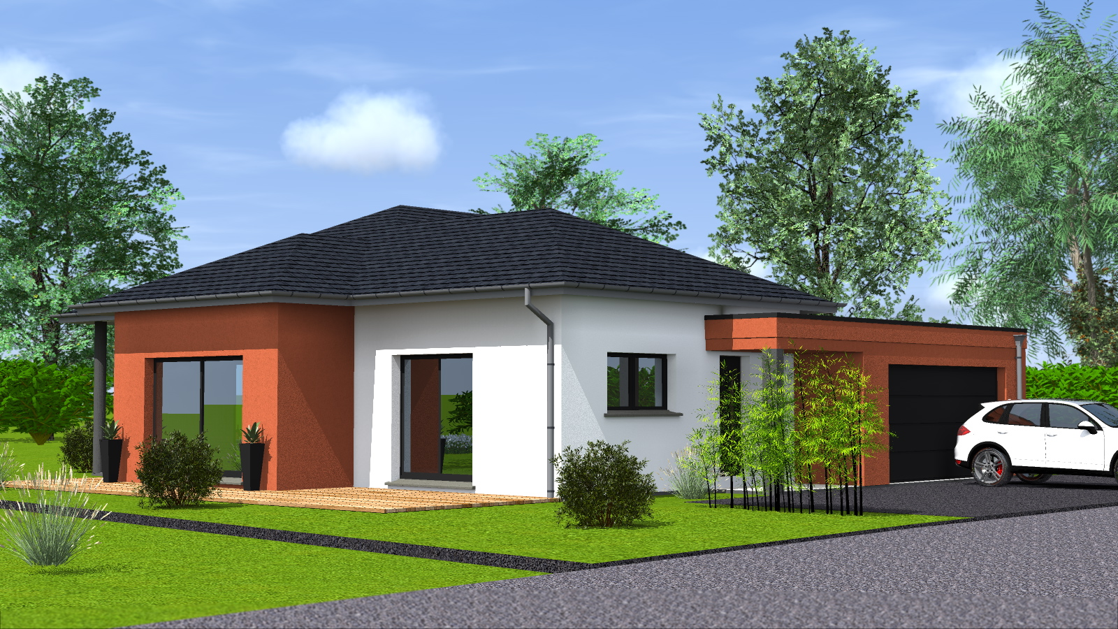 Construction maison de plain pied maisons begimaisons begi - Style de maison moderne plain pied ...