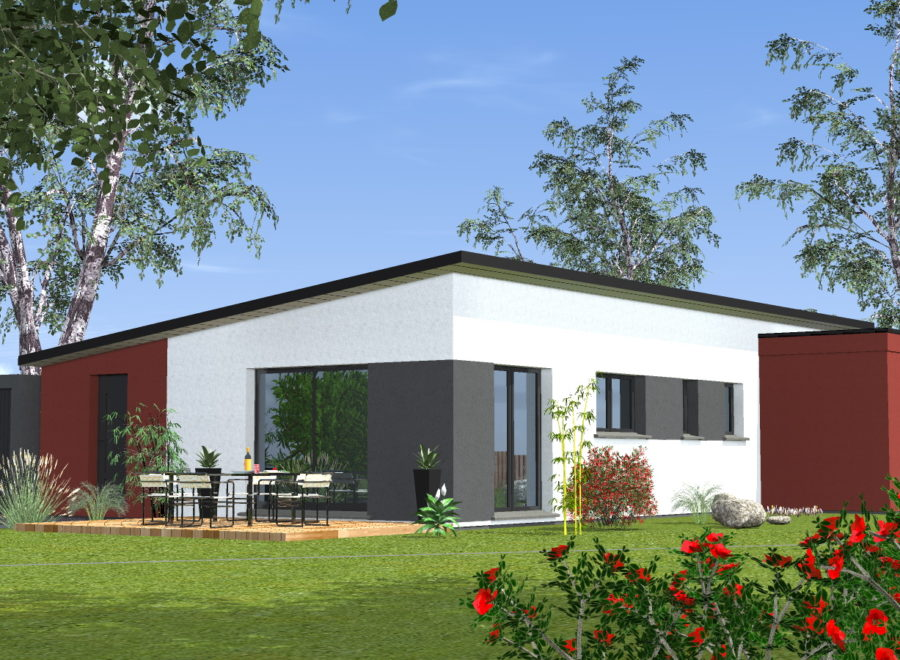 maisons contemporaine 1 pan
