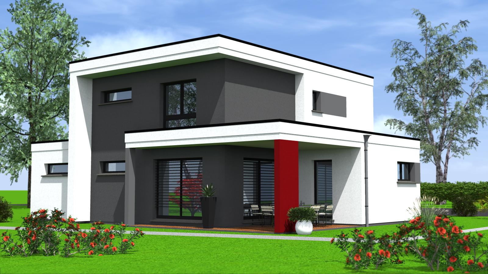 Construction de maisons cubiques maisons begi - Maison moderne construction ...