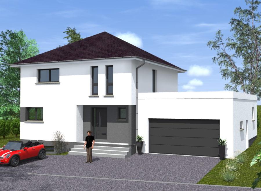 maisons garage accolé demi-niveau
