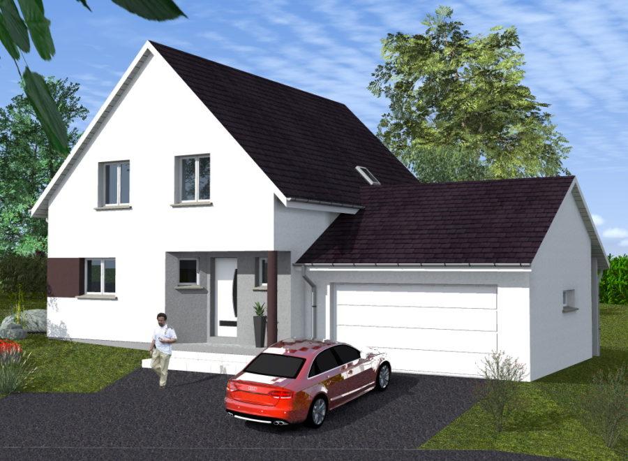 maisons garage accolé demi- niveau
