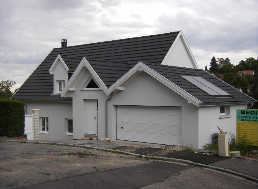 maisons garage accolé réalisation