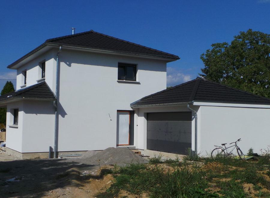 maisons garage accolé realisation