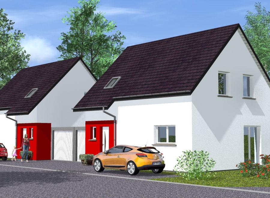 maisons jumelée par garage
