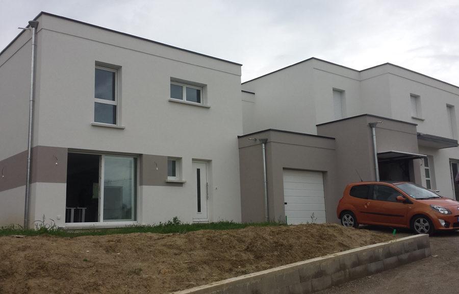 maisons jumelée réalisation