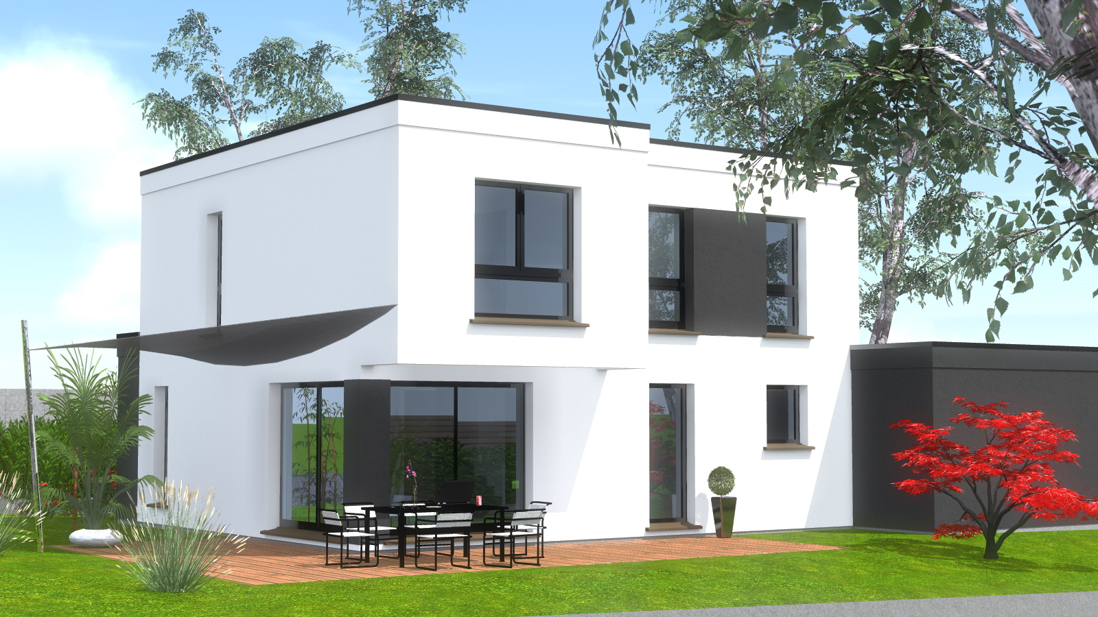 Construction maison toit plat maisons begimaisons begi for Maison design toit plat