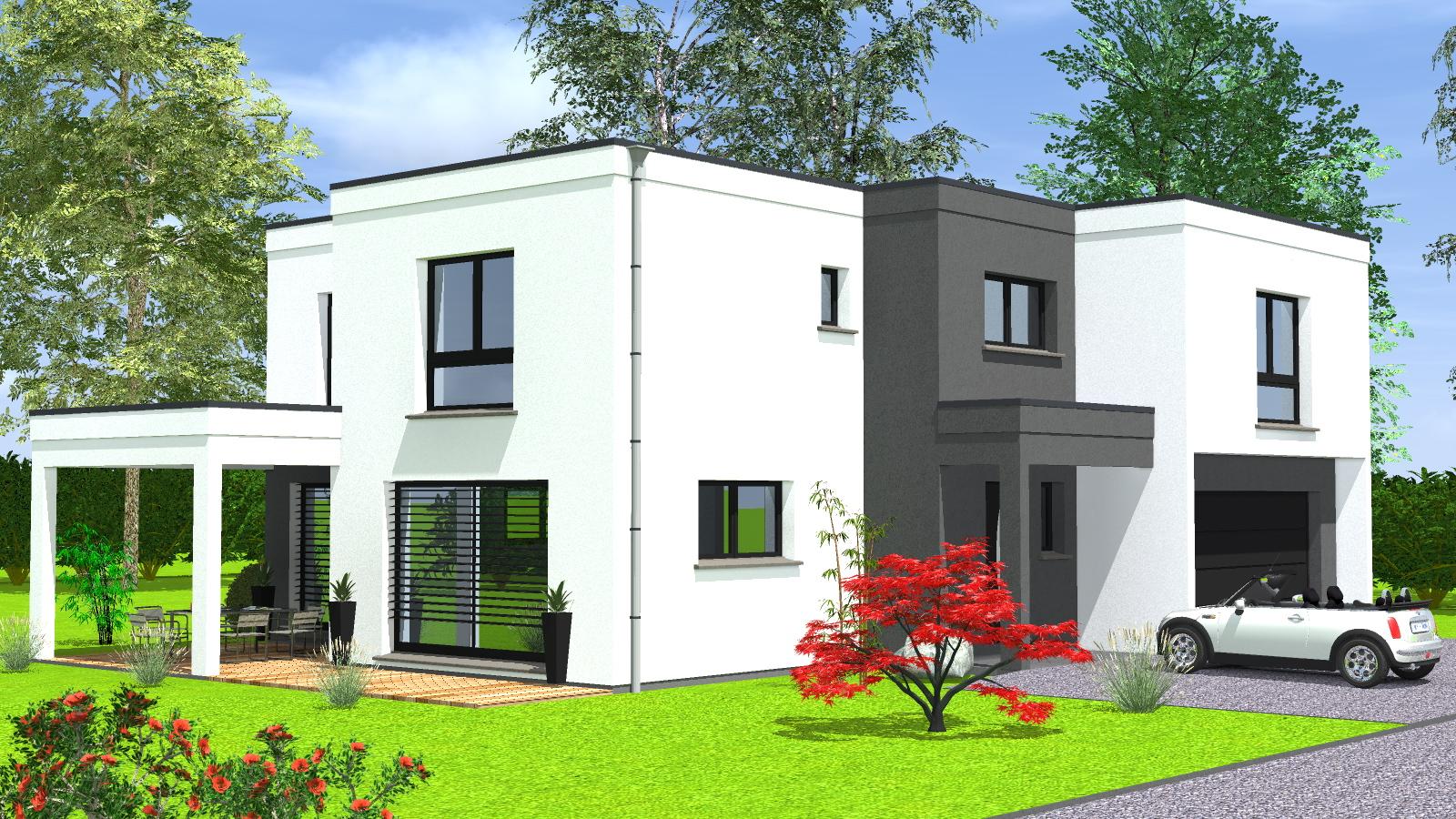 Construction maison toit plat - Maisons BEGIMaisons BEGI