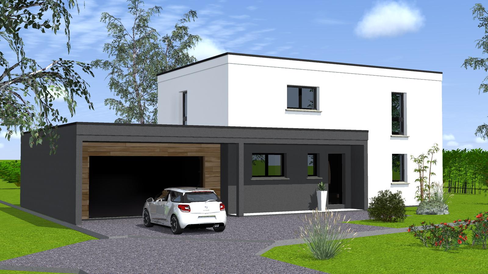 Maison toit plat sans etage ventana blog - Plan de maison sans toit ...
