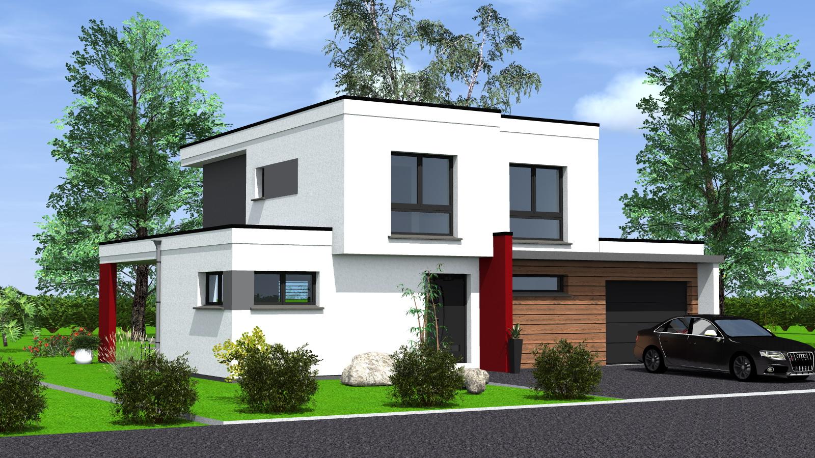 Construction maison toit plat maisons begimaisons begi for Maison toit plat etage