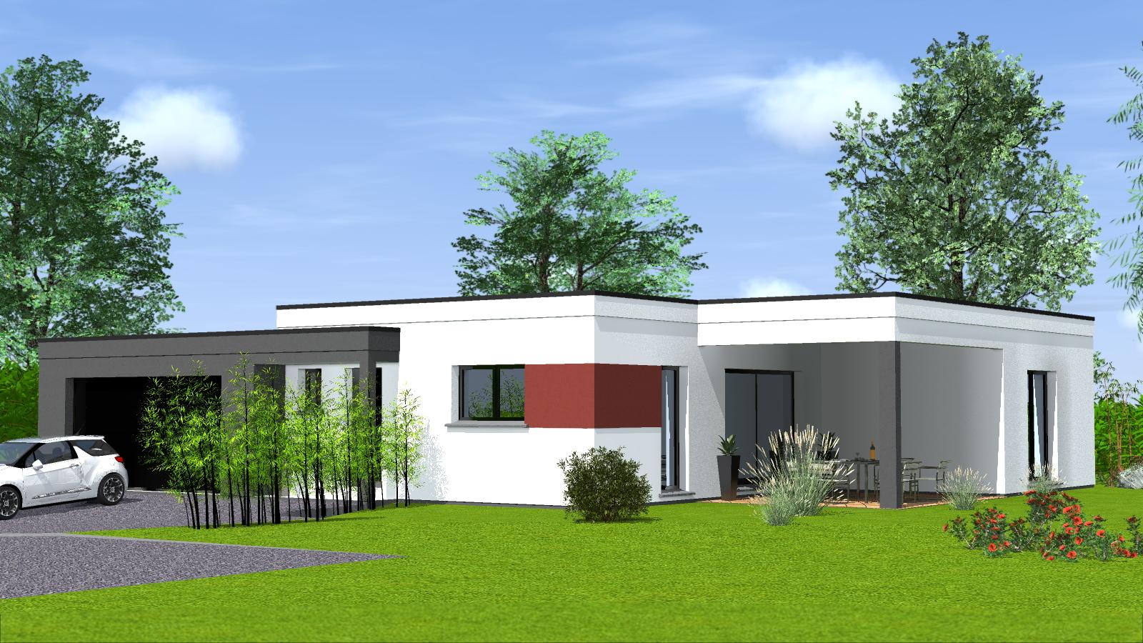 Construction maison toit plat maisons begimaisons begi for Maison toit plat en l