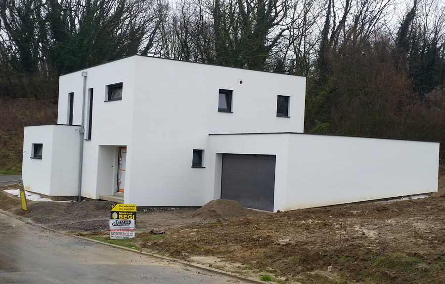 maisons toit plat réalisation