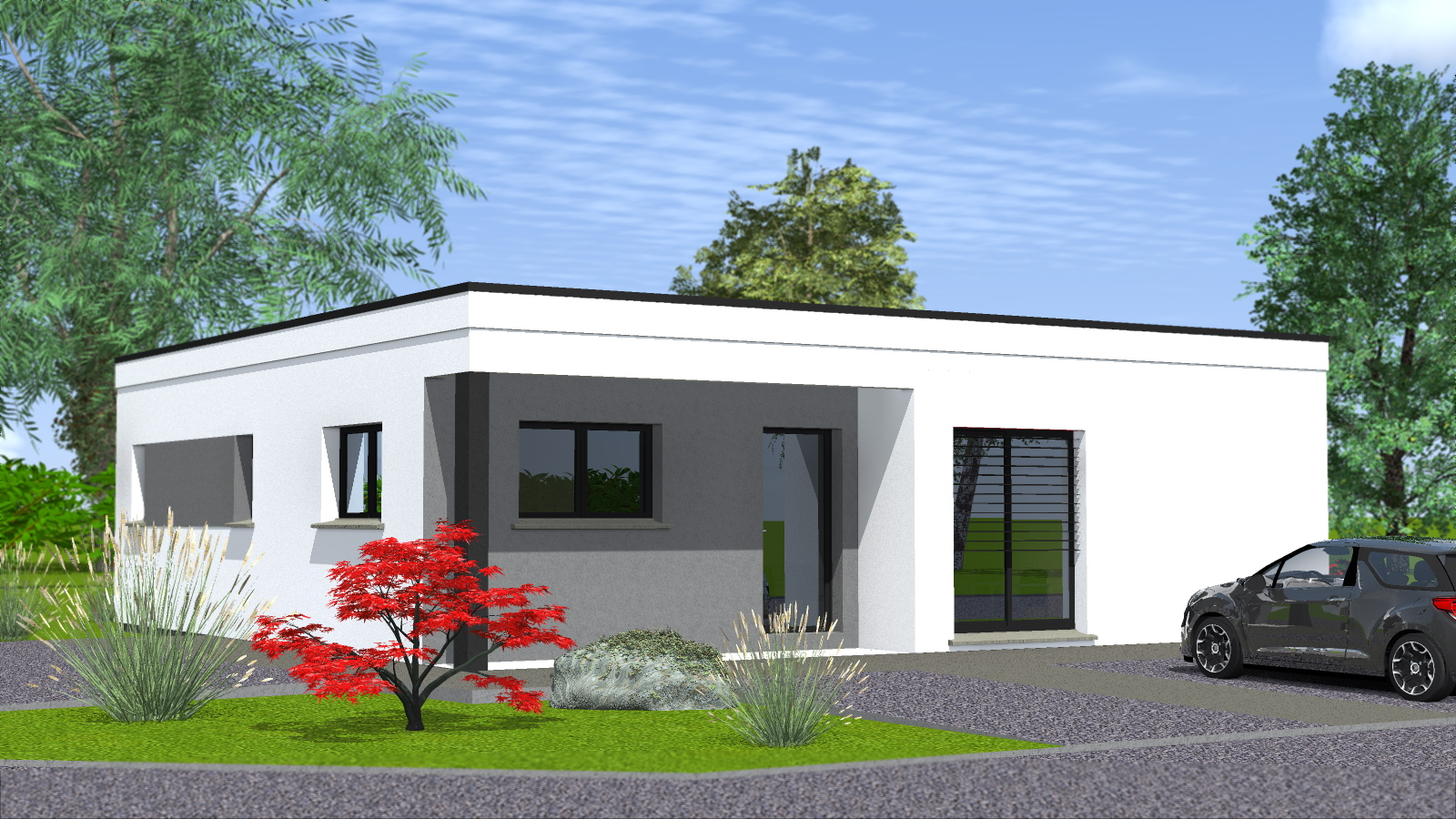 Construction de maisons cubiques -Maisons BEGI
