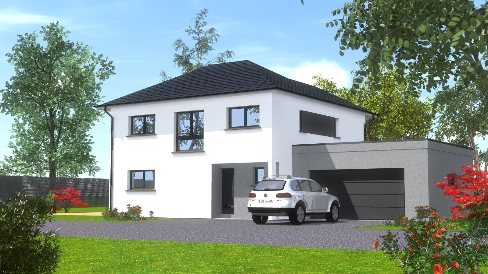 Constructeur maisons quatre pans constructeur maisons quatre pansmaisons begi - Construction garage accole maison ...