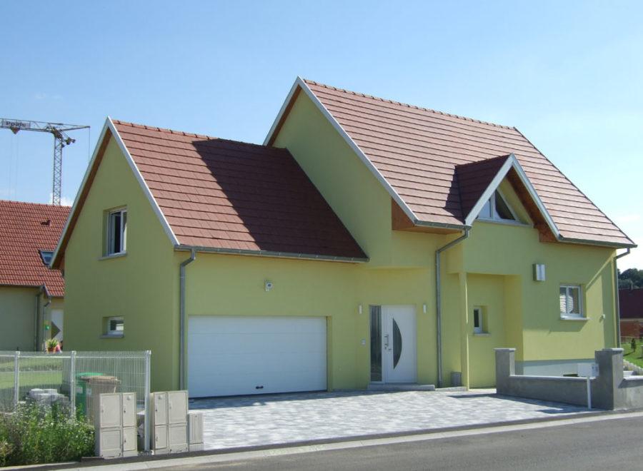 maison garage accolé realisée