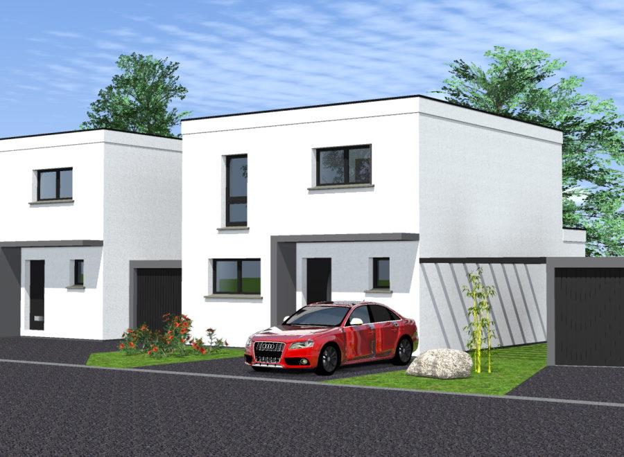 maison jumelée par garage