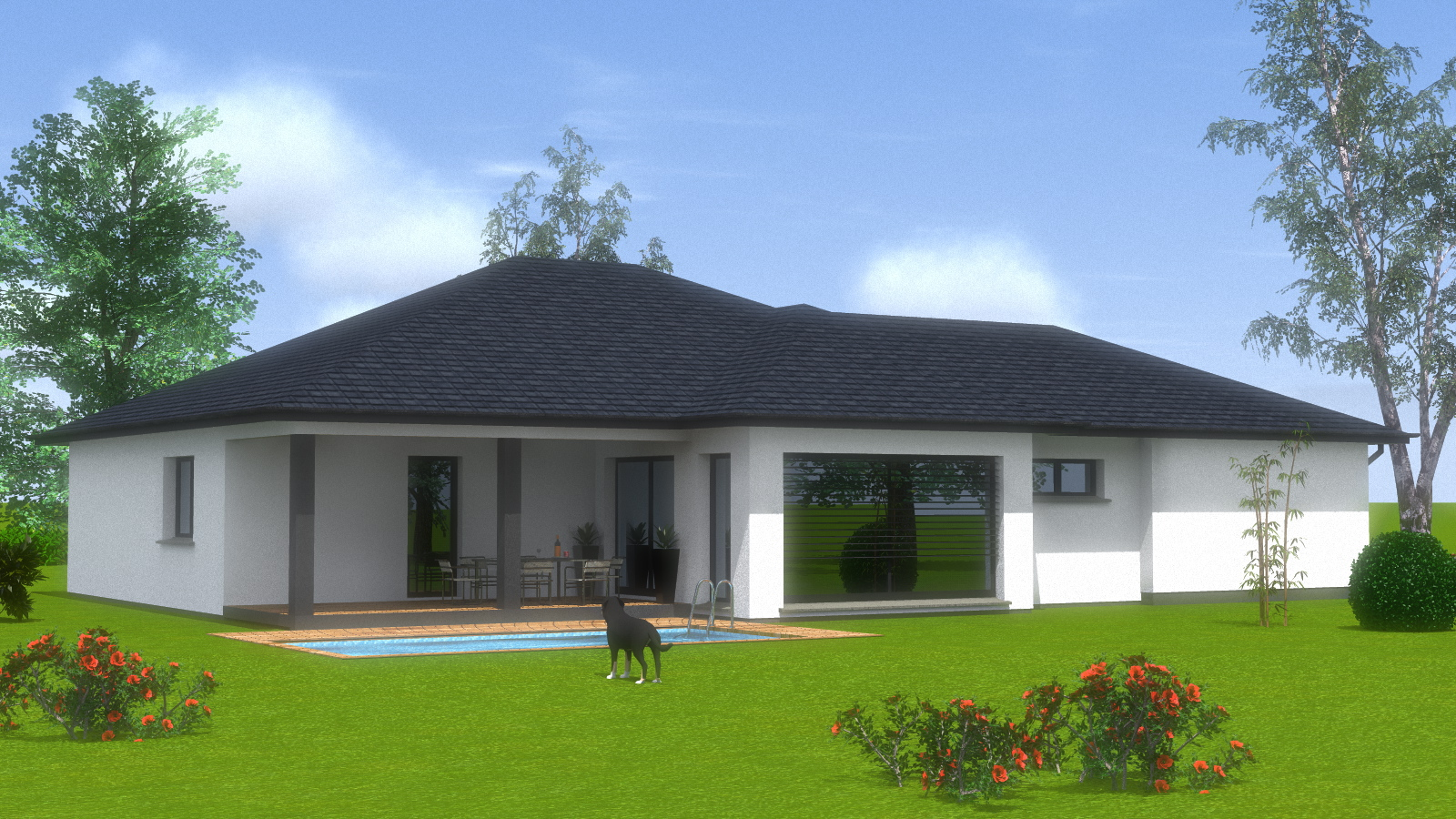 Construction maison de plain pied maisons begimaisons begi - Modele de maison contemporaine plain pied ...