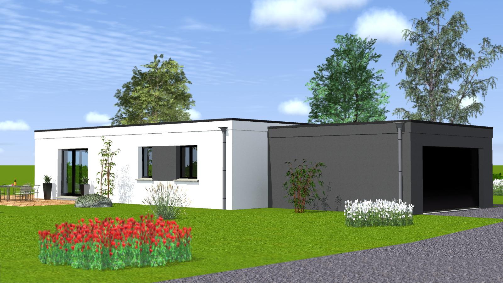 Construction maison de plain pied maisons begimaisons begi - Maison toit plat plain pied ...
