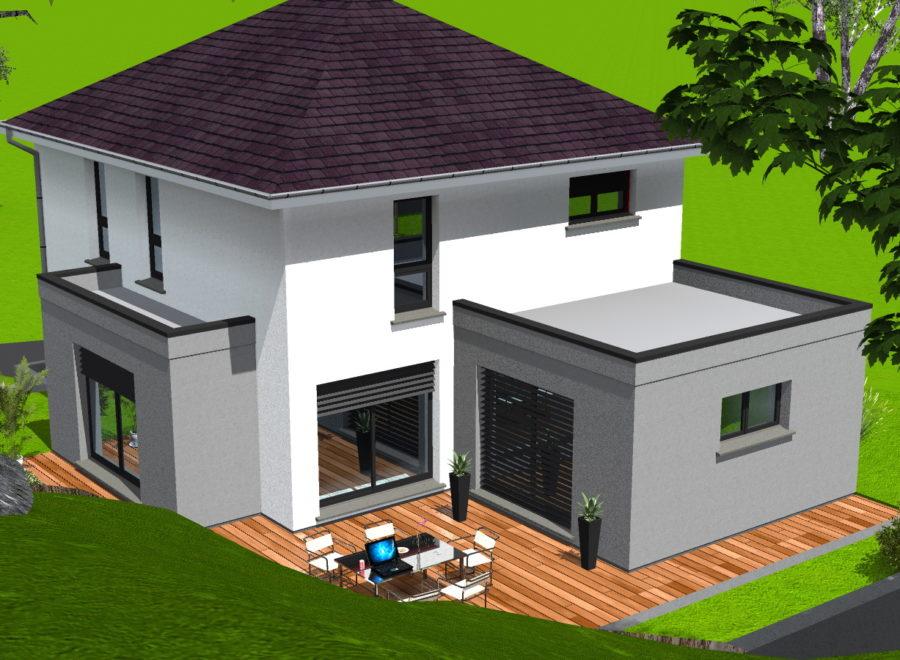 maison quatre pans