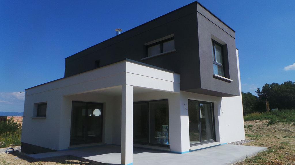 Construction maison toit plat maisons begimaisons begi for Realisation toit plat