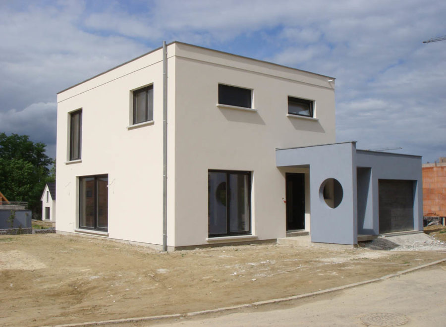 maison toit plat réalisation
