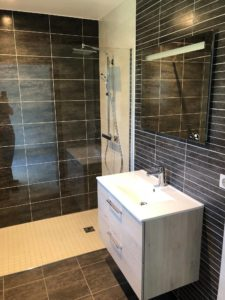 Salle de bains maison contemporaine Alsace