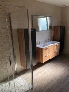Salle de bain esprit nature maison ossature bois