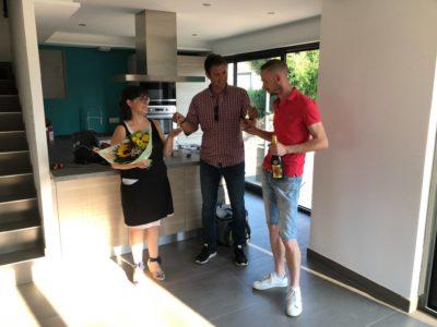 Remise des clés construction garage accolé Réguisheim