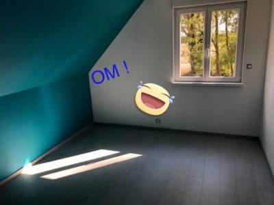 Belle chambre avec parquet maison 2 pans Munchhouse