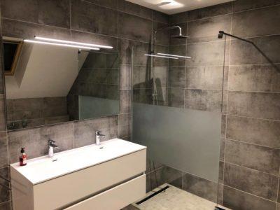 sublime salle de bain effet béton ciré