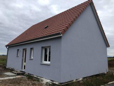 Construction à Ohnenheim d'une maison ossature bois