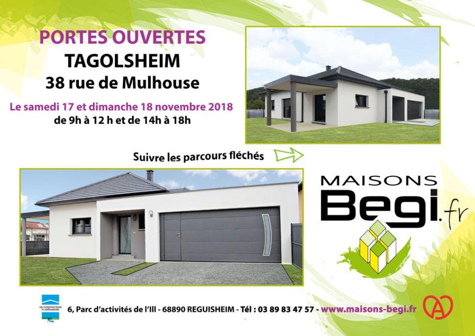 Portes ouvertes TAGOLSHEIM les 17 et 18 novembre 2018