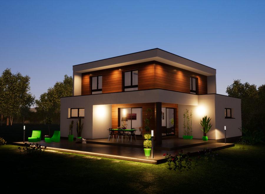 Maisons BEGI toiture terrasse