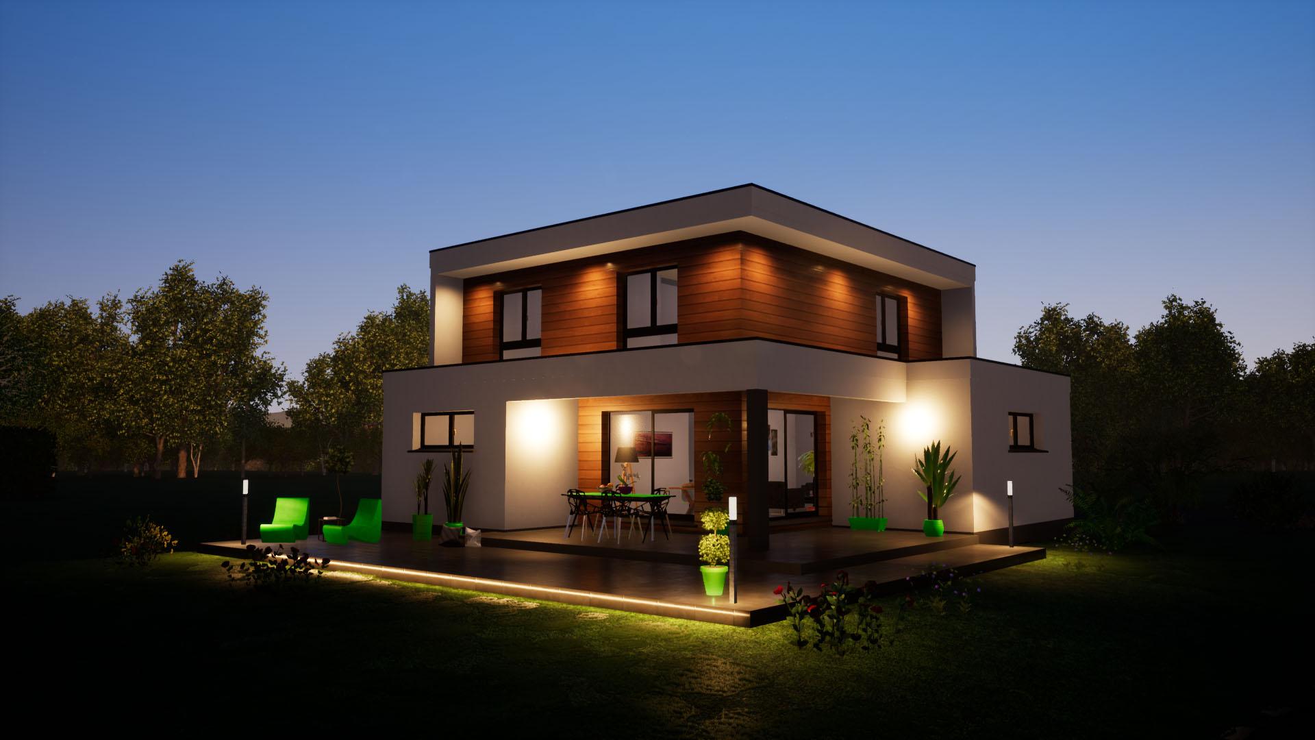 Maison Contemporaine Toit Terrasse construction toit plat alsace - maisons begi - maisons