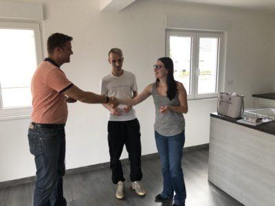 Remise des clés maison deux pans Ungersheim