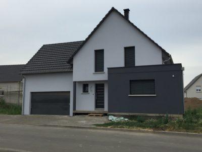 Maison garage accolé Alsace