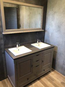 Double vasque salle de bain maison contemporaine Balschwiller