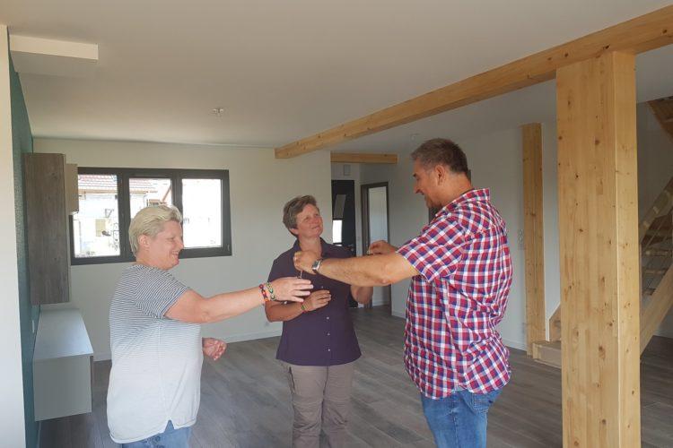 Réception d' une belle maison en ossature bois à Valdieu Lutran