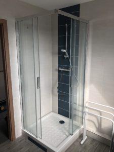 Douche avec bac encastré maison garage accolé Haut-Rhin