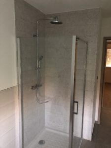 Douche avec bac maison ossature bois Alsace