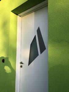 Porte d'entrée maison plain-pied Alsace
