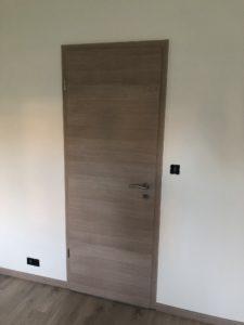 Porte intérieure maison plain-pied ossature bois