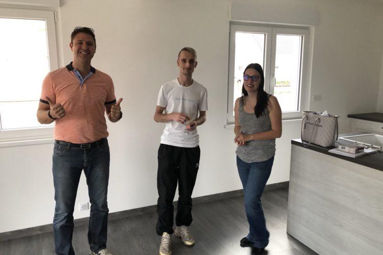 Réception maison deux pans Ungersheim