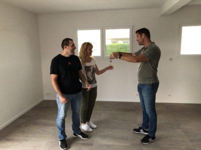 Remise des clés maison garage accolé Alsace