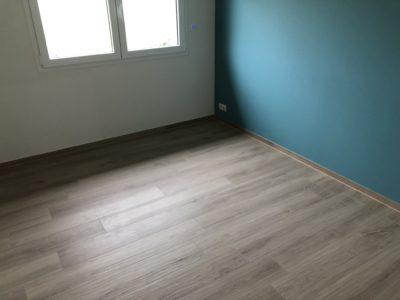 Chambre avec parquet construction plain-pied Haut-Rhin