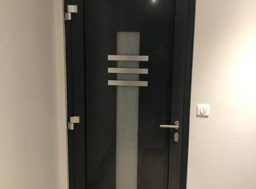 Porte d'entrée anthracite